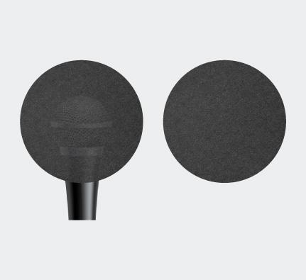 اسفنج ميكروفون دائري الشكل