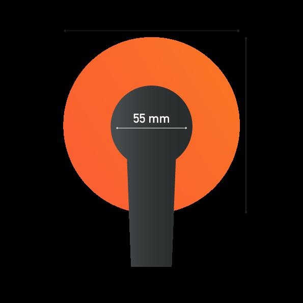 حجم اسفنجة الميكروفون الدائرية