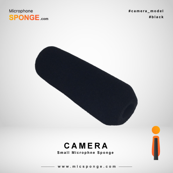 Black Camera Microphone Sponge