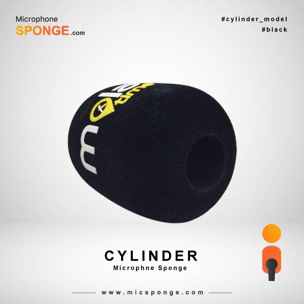 Black Cylinder Microphone Sponge