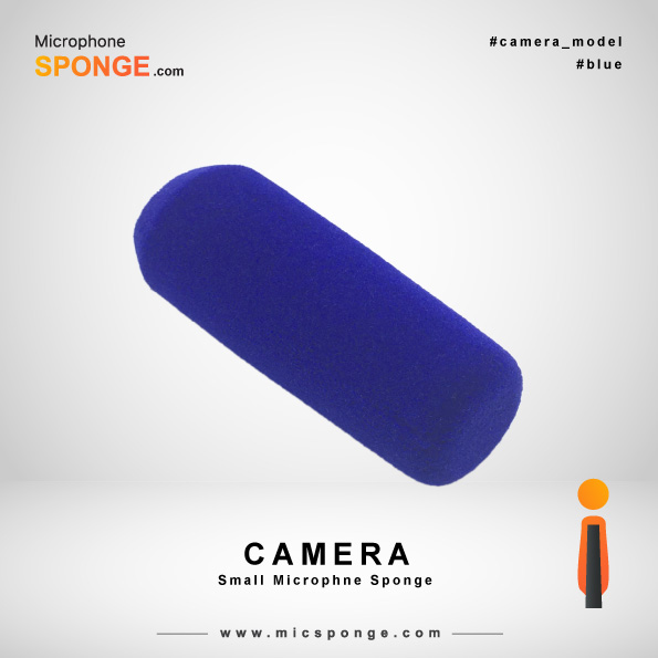 Camera Navy Blue Microphone Sponges