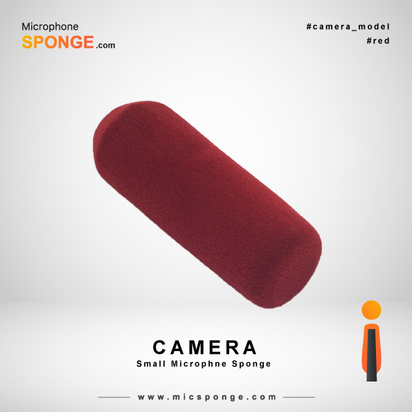 Camera Red Microphone Sponge