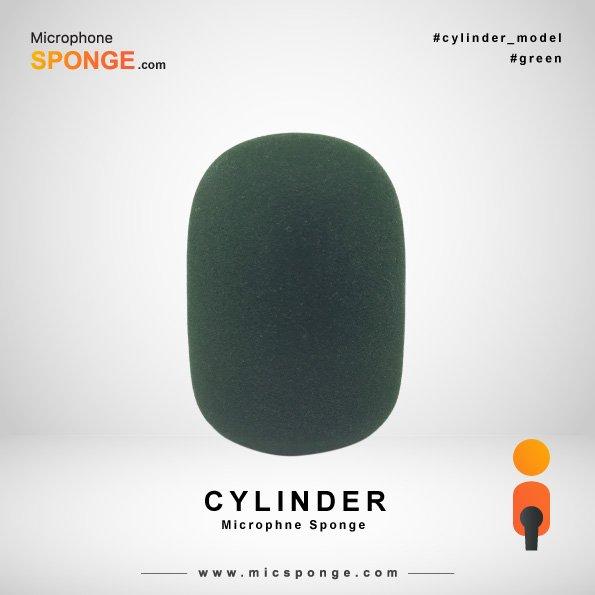 Cylinder Green Microphone Sponge