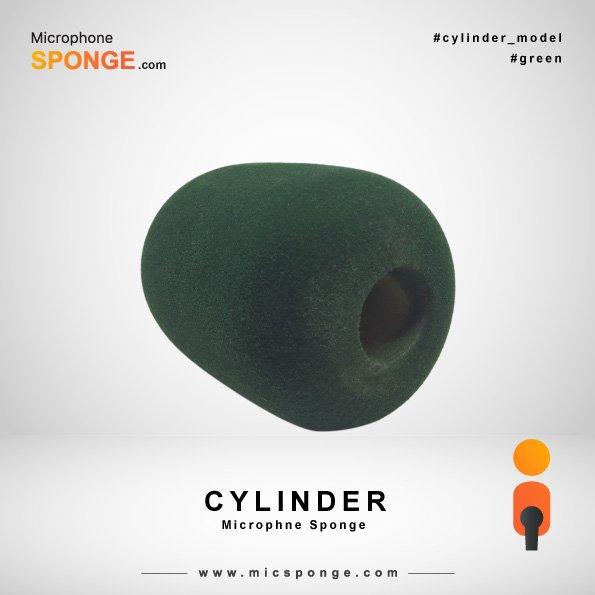 Green Cylinder Microphone Sponge