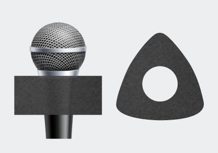 Küp Mikrofon Süngeri Başlığı Üçgen