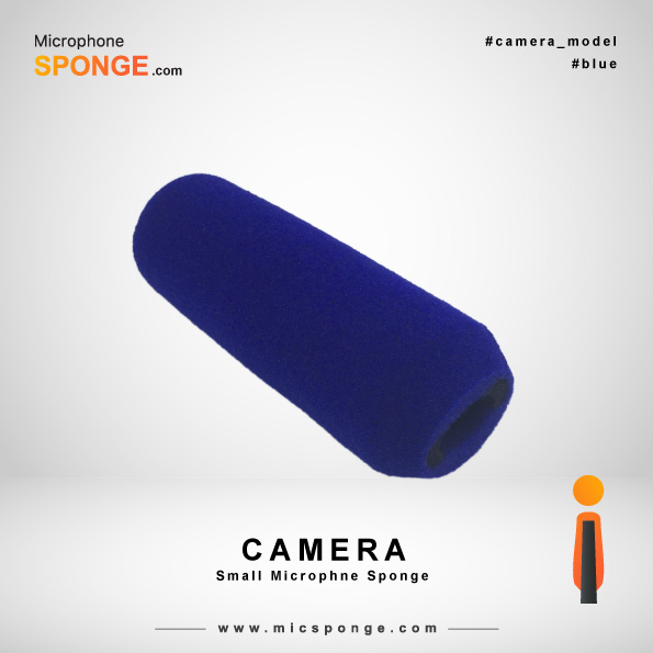 Navy Blue Camera Microphone Sponge
