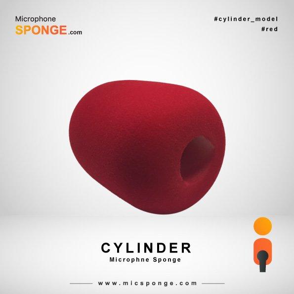 Red Cylinder Microphone Sponge