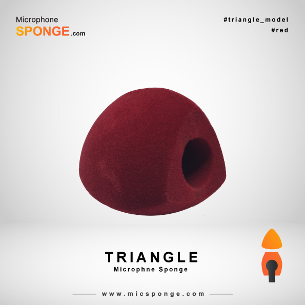 Red Triangle Microphone Sponge