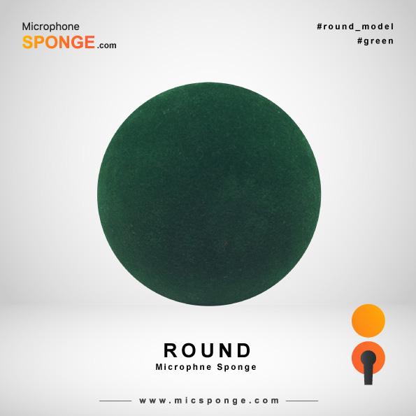 Round Green Microphone Sponge