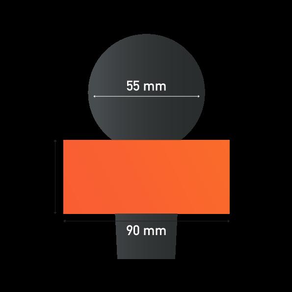 Sizes of Triangle Earring Microphone Sponge