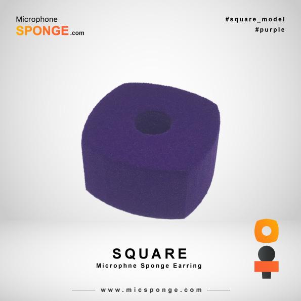 Square Navy Blue Microphone Sponges