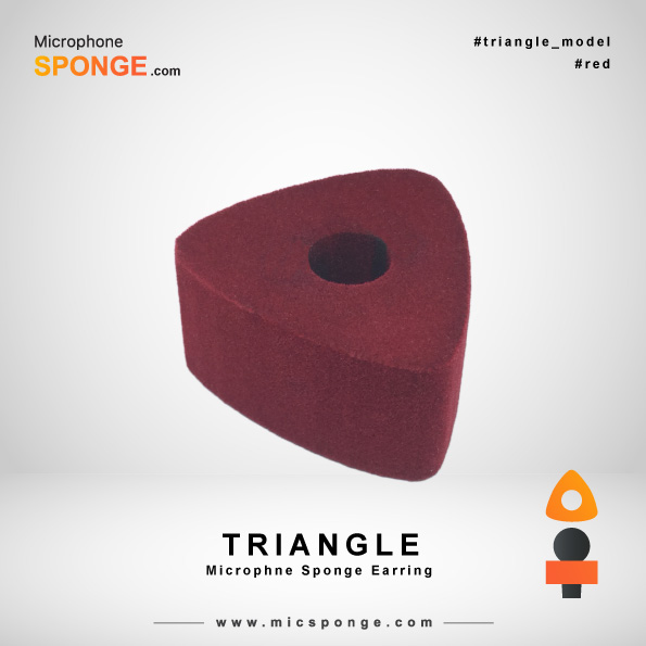 Triangle Red Microphone Sponges