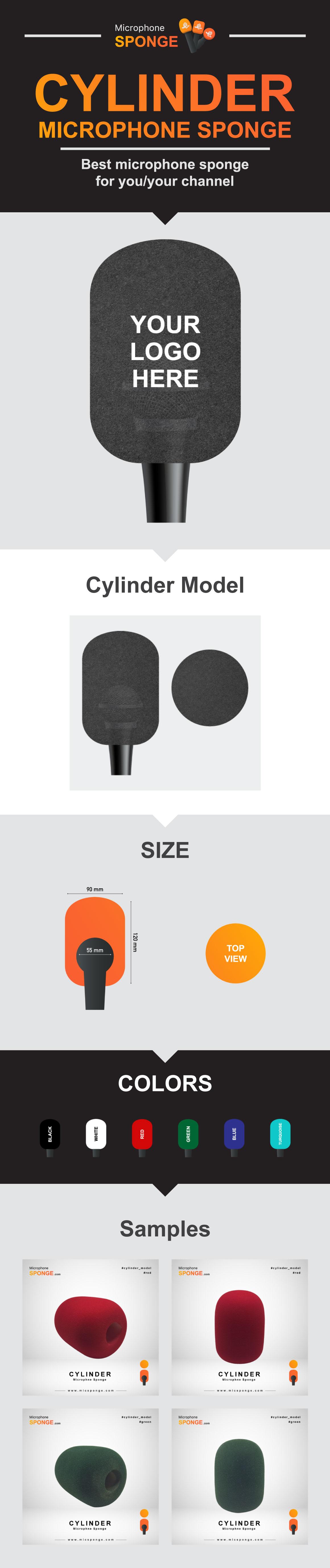 Microphone Sponge Cylinder