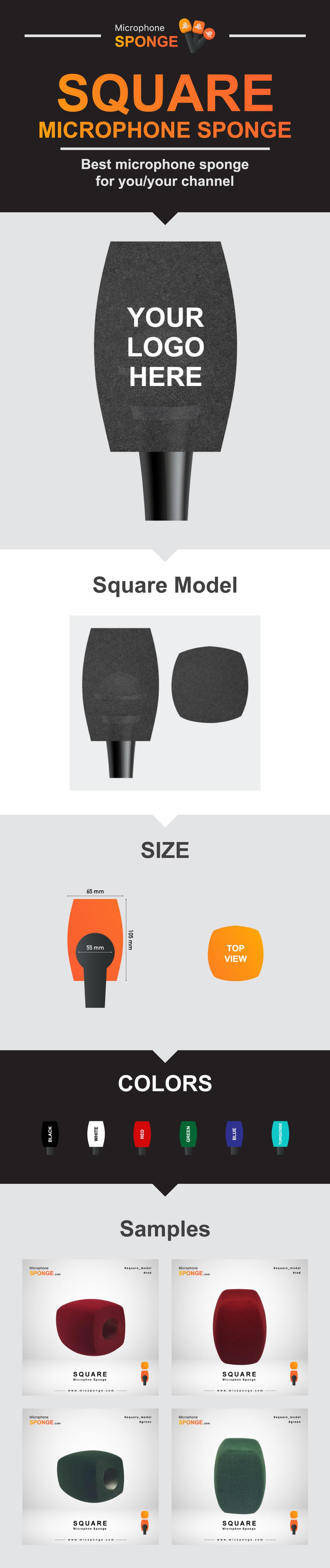 Microphone Sponge Square