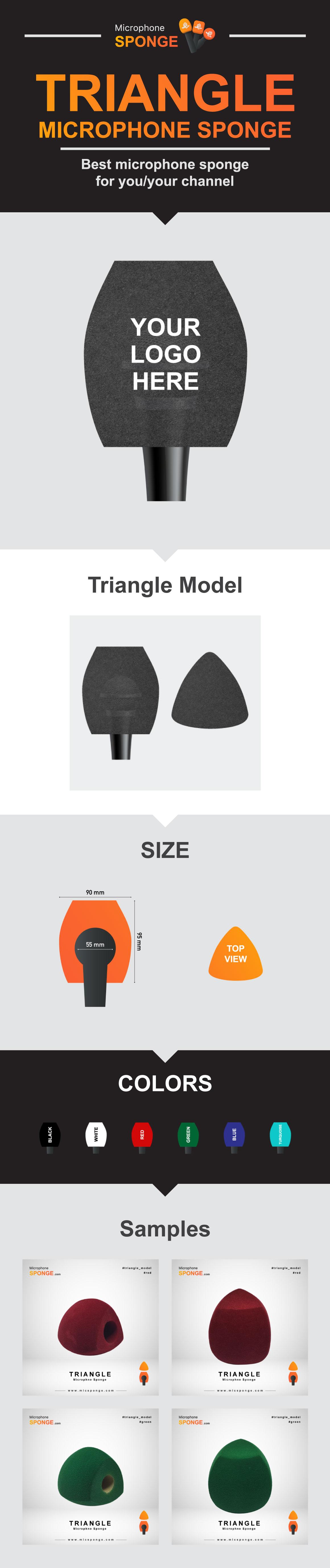 Microphone Sponge Triangle