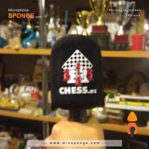 Microphone sponge printing Chess az Logo