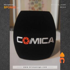 Microphone sponge printing Comica Logo