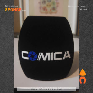Microphone sponge printing Comica Triangle Logo