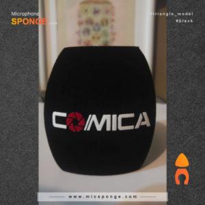 Microphone sponge printing Comica Triangle Logos