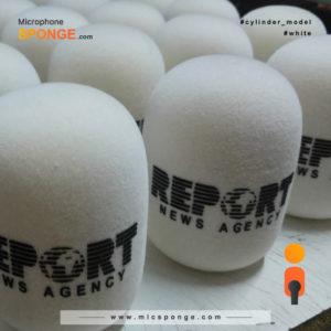 Microphone sponge printing Report News Agency Logo