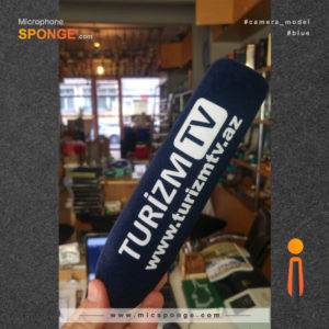 Microphone sponge printing Turizm tv Logo