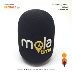 Microphone sponge with Mola Time Logo on Mic cover