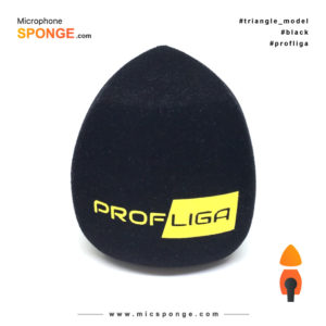 Microphone sponge with Profliga Logo on Mic cover