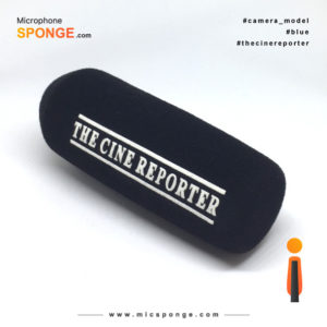 Microphone sponge with The Cine Reporter Logo on Mic Sponges