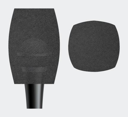 Квадратная ветрозащита для микрофона