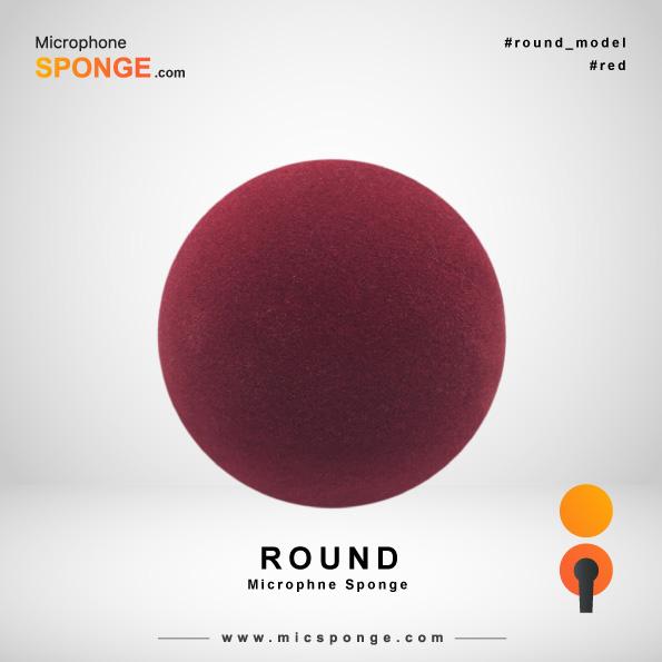 Круглая красная ветрозащита на микрофон