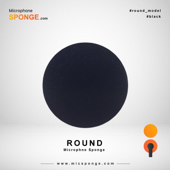 Круглая черная ветрозащита на микрофон