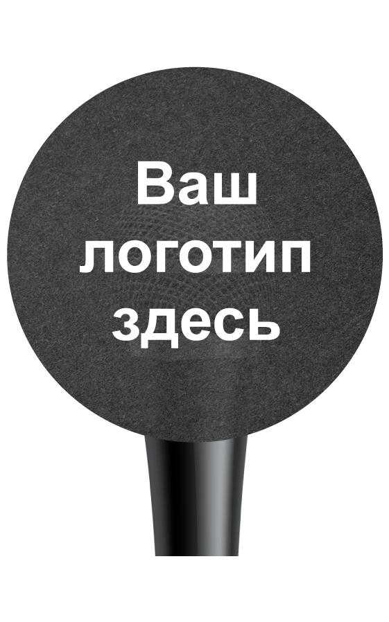 Круглый чехол из губки на микрофон с логотипом