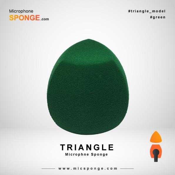 Треугольная зеленая ветрозащита на микрофон