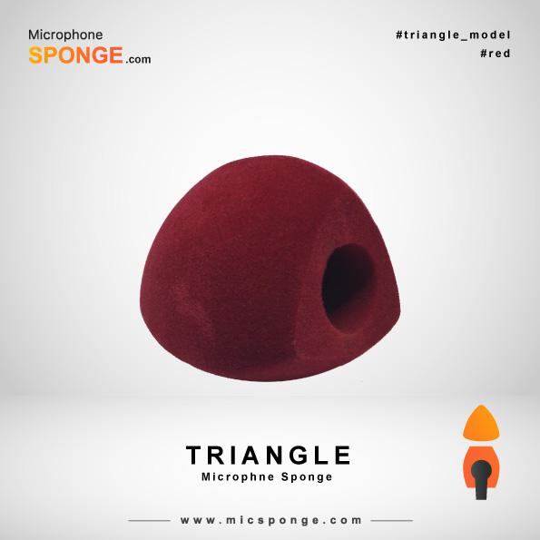 Треугольная красная ветрозащита на микрофон