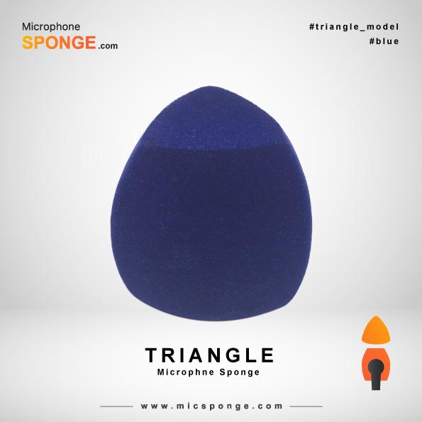 Треугольная темно-синяя ветрозащита на микрофон