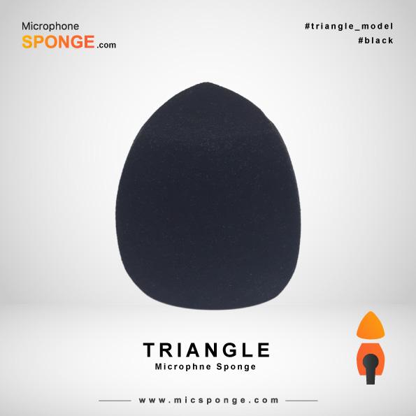 Треугольная черная ветрозащита на микрофон