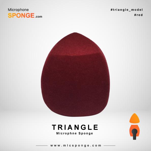 Треугольный чехол из губки на микрофон