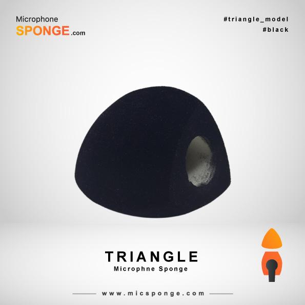 Черная треугольная модель чехла из губки на микрофон