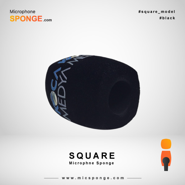 Black Square Microphone Sponge