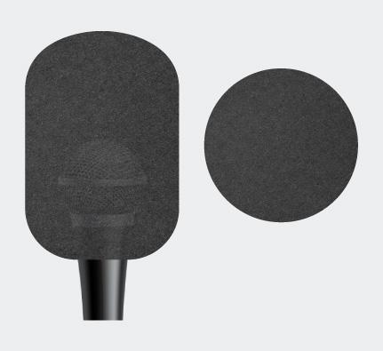 Cylinder Microphone Sponge