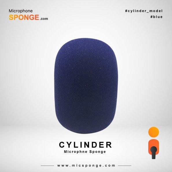 Cylinder Navy Blue Microphone Sponge