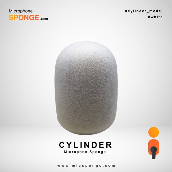 Cylinder White Microphone Sponge