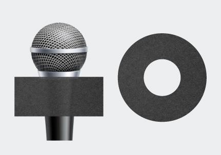 Microphone Round Earring Sponge