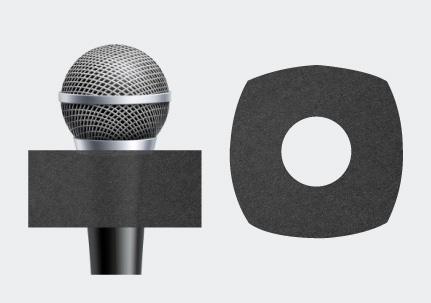 Microphone Square Earring Sponge