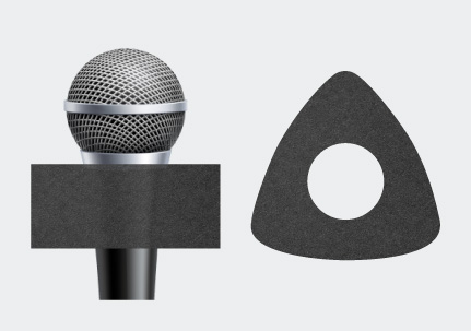 Microphone Triangle Earring Sponge