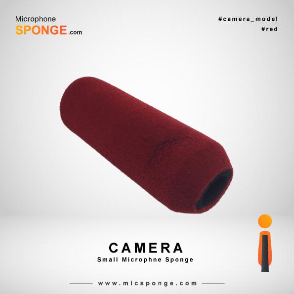 Red Camera Microphone Sponge
