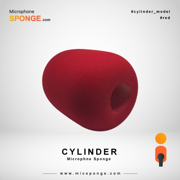 Red Cylinder Microphone Sponge