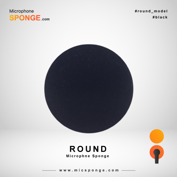 Round Black Microphone Sponge