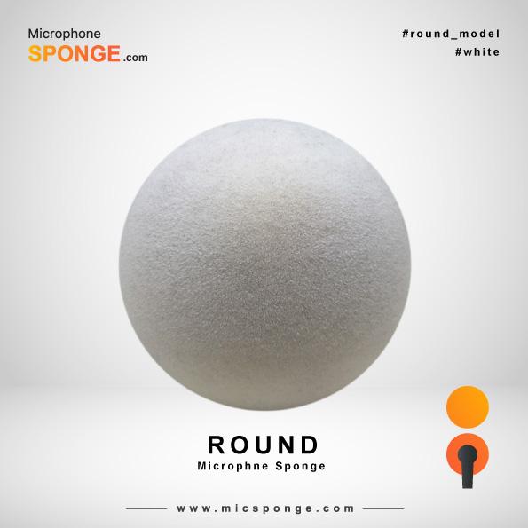Round White Microphone Sponge
