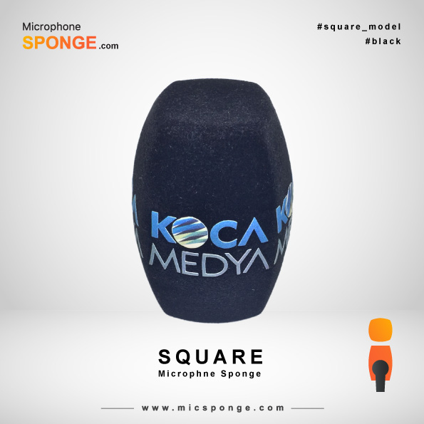 Square Black Microphone Sponge